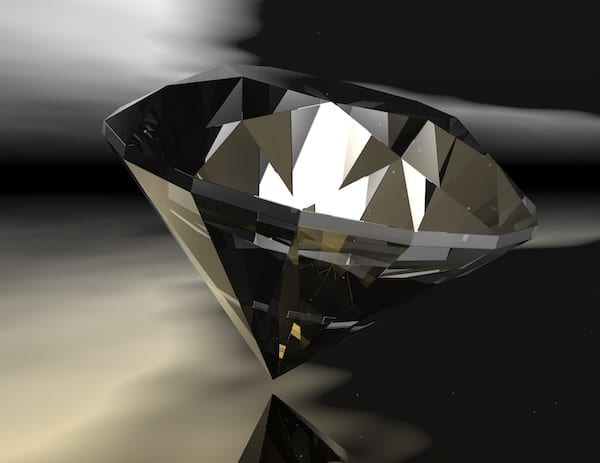 Digital rendering of a diamond