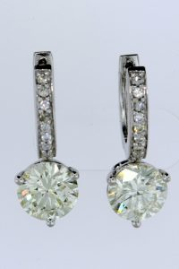 Diamond earrings Custom