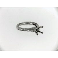 Prong white gold ring no diamond