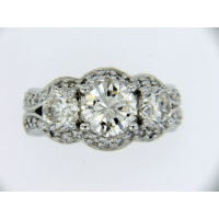 Diamond cluster ring custom