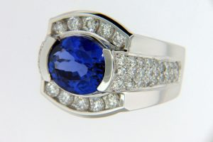 Blue and diamond ring designs