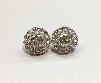 Close up diamond studs