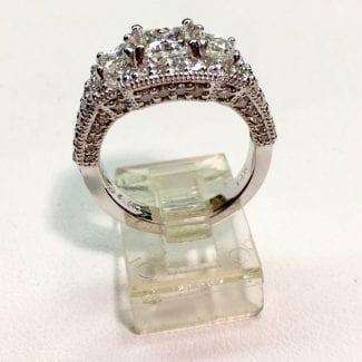 3 stone diamond ring nyc