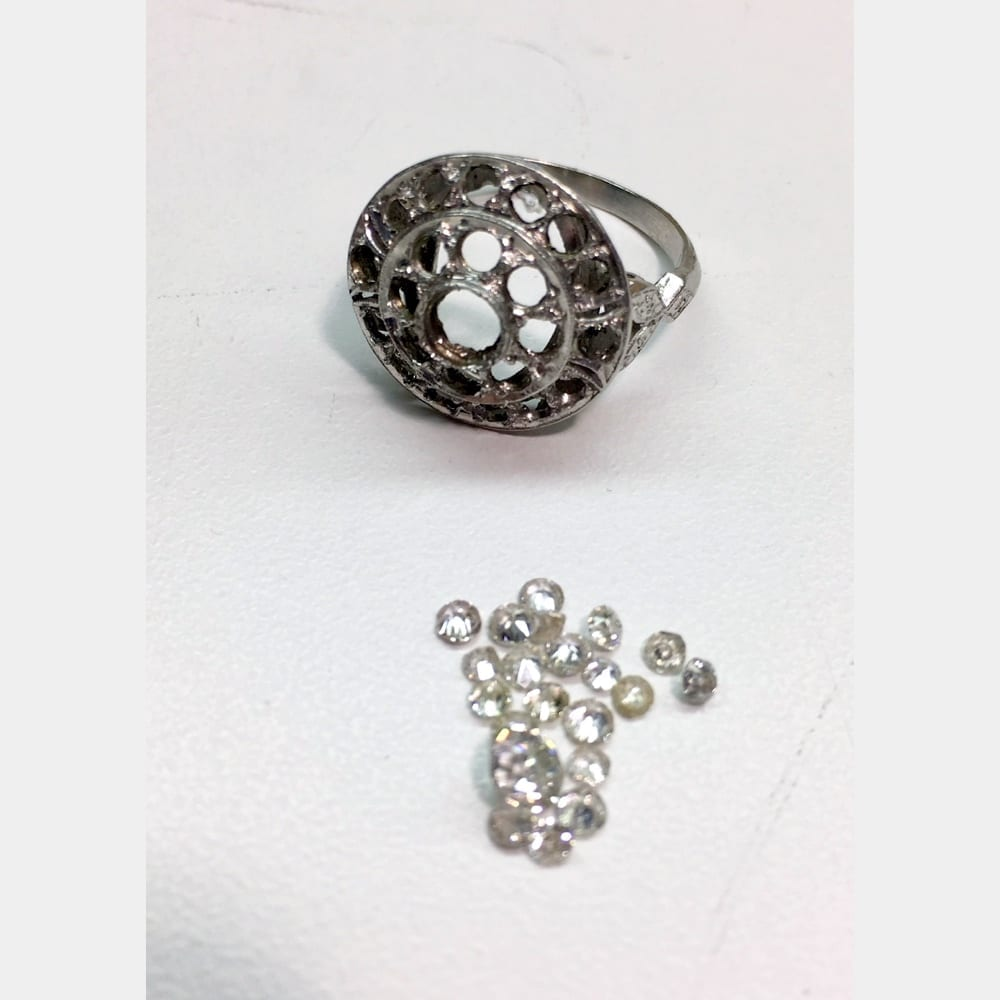 Wedding Band with Stones Removed