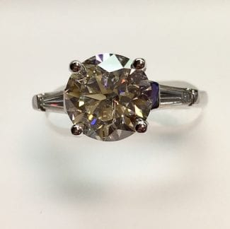 top view of a diamond ring