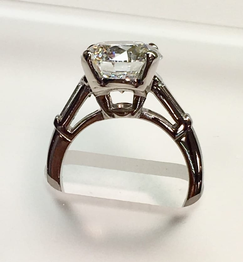 Profile of engagement ring