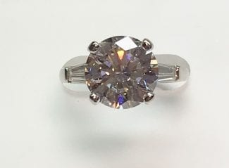 Tapered engagement ring New York