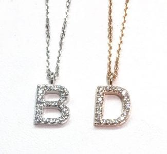 14k initial necklaces