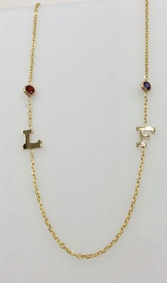Yellow Gold Letter Necklace