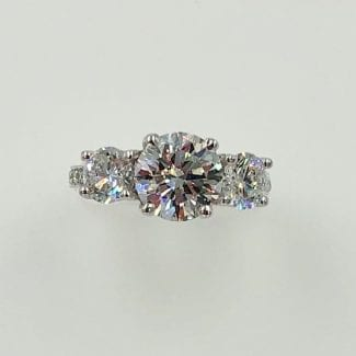 Top view engagement ring