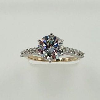 two tone diamond ring 3