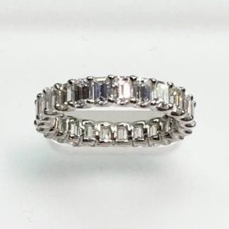 Emerald Cut Diamond Ring 2