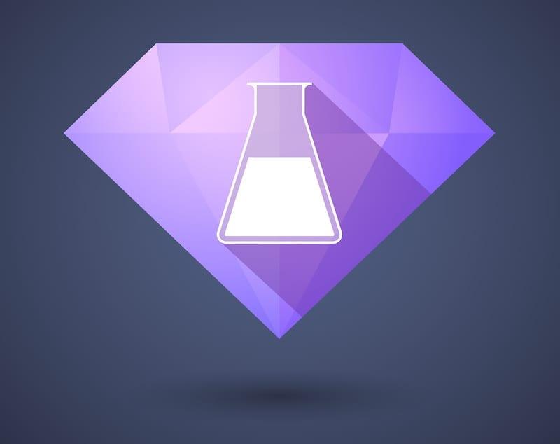 Graphic of beaker on diamond
