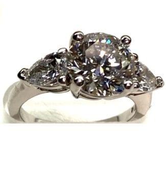 2-25 Carat lab grown diamond platinum
