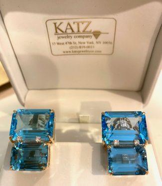 Blue Topaz Earrings in a Box