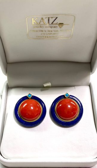 18k Coral Lapas Earrings