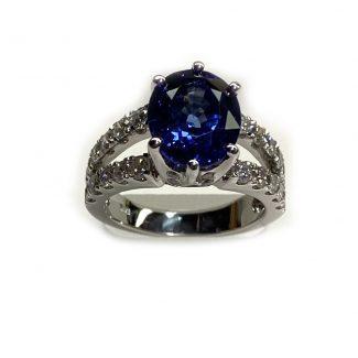New ring 14k sapphire