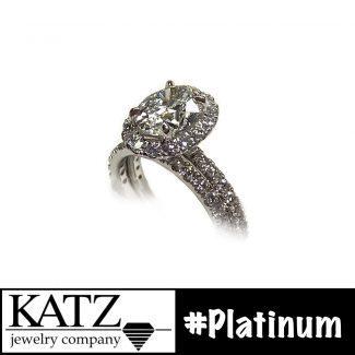Social Diamond Platinum Ring Post