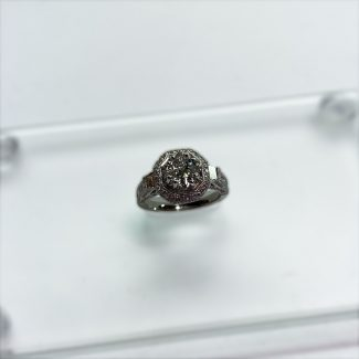 1.24 CT Engagement Ring Top down