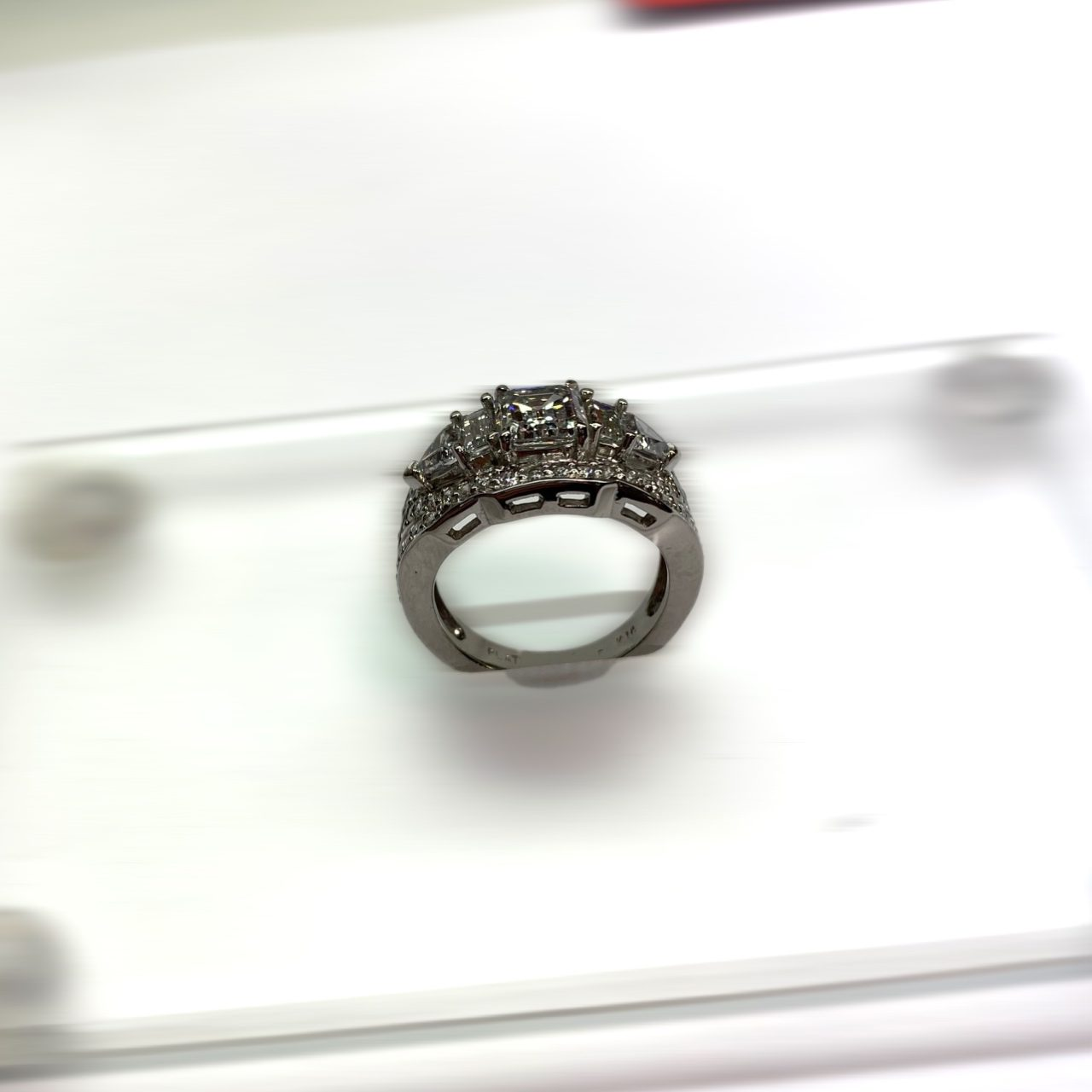 Emerald Cut Diamond Ring Profile