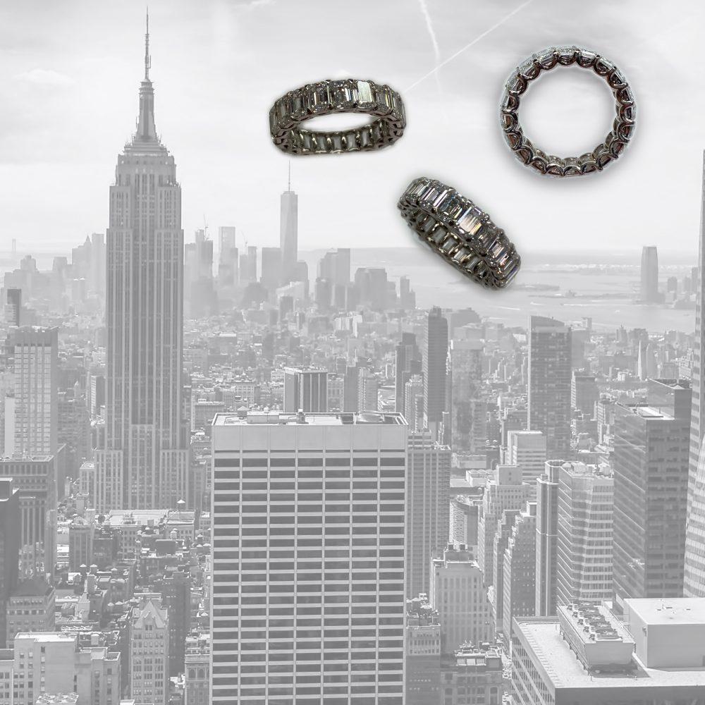 White Gold Ring over New York City